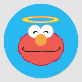 Elmo Smiling Face with Halo Classic Round Sticker