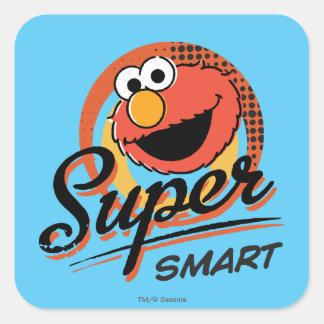 Elmo Super Smart Comic Square Sticker