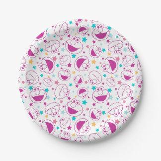 Elmo | Sweet & Cute Star Pattern Paper Plate