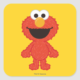Elmo Wool Style Square Sticker