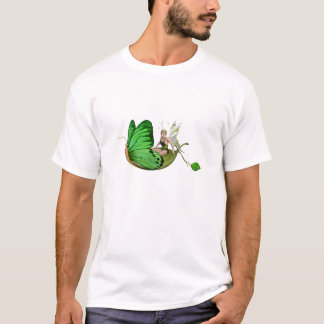 Elven Fairy on a Leaf Boat T-Shirt