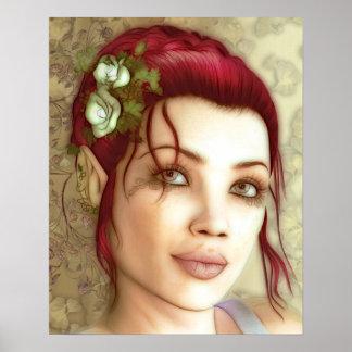 Elven Princess Fantasy Art Poster