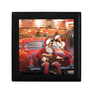 Elvis and Marilyn Christmas Gift Box
