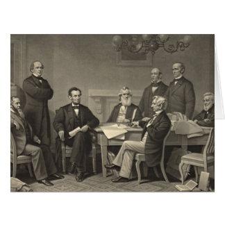 Emancipation Proclamation 1866 Card