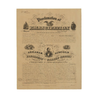 Emancipation Proclamation Reprint from A. Kidder Wood Canvases
