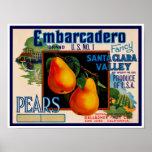 Embarcadero Fancy Santa Clara Pears Poster