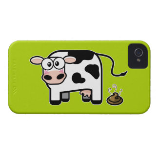 Embarrassed Pooping Cow iPhone 4 Cover