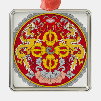 Emblem of Bhutan (རྒྱལ་ཡོངས་ལས་རྟགས་) Christmas Ornament