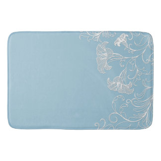 Embossed Day Lilies Transparent Background Bath Mat