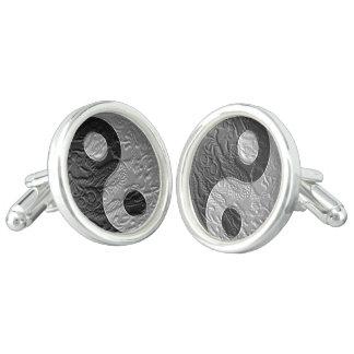 Embossed Dragon Orient Yin-Yang Symbol Cufflinks