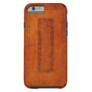 Embossed Leather book cover Tough iPhone 6 Case