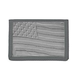 Embossed looking American flag Tri-fold Wallet