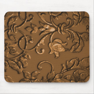 Embossed Metallic Damask, Copper Mouse Pads