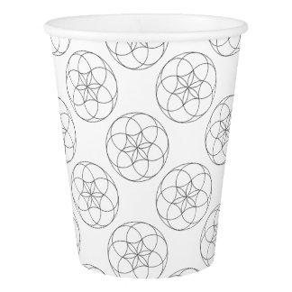 Embossed Star Flower Paper Cup