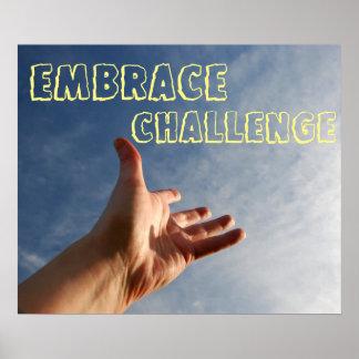 Embrace Challenge Motivational Poster