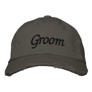 Embroider Gifts Groom Hat   Cap Embroidered Baseball Cap