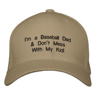 "Embroidered baseball cap ""I'm a Baseball Dad....."""