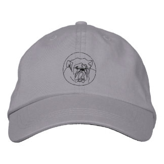 Embroidered Bulldog Hat Embroidered Hat