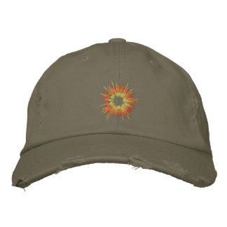 Embroidered Explosion distressed Cap Embroidered Hats