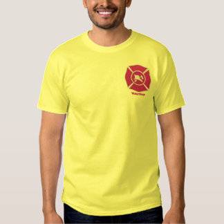 Embroidered Firefighter Badge Embroidered T-Shirt