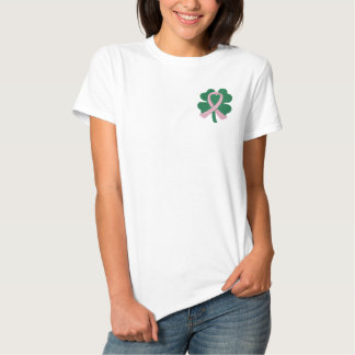 Embroidered Four-Leaf Clover Ribbon Embroidered Polo Shirt