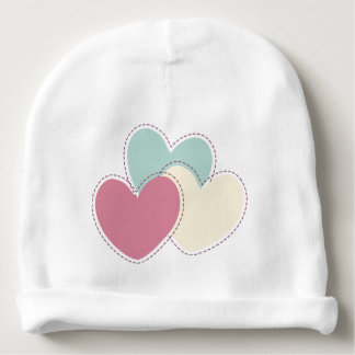 Embroidered Happy beret Baby Beanie