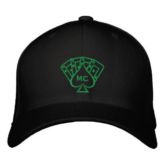 Embroidered Hat Green Stitch