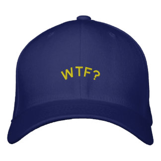 Embroidered Hat: WTF? Baseball Cap