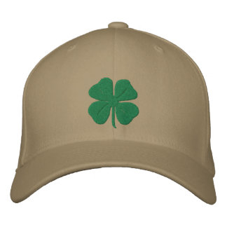 Embroidered Irish Four Leaf Clover Embroidered Hats