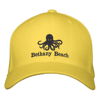 Embroidered Octopus Beach Hat Embroidered Baseball Cap