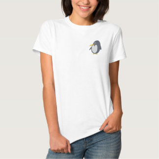 Embroidered Penguin Women T-Shirt Embroidered Shirt