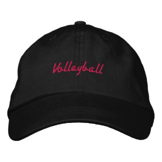 Embroidered Pink Volleyball Ball Cap Baseball Cap