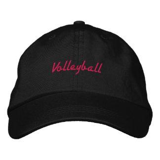 Embroidered Pink Volleyball Ball Cap Baseball Cap