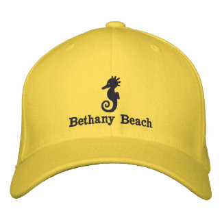 Embroidered Seahorse Beach Hat Embroidered Baseball Cap