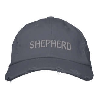 EMBROIDERED SHEPHERDS HAT W/ SHETLAND MONOGRAM EMBROIDERED BASEBALL CAPS
