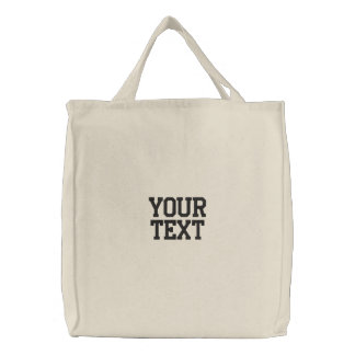 Embroidered Tote Bag Template Natural