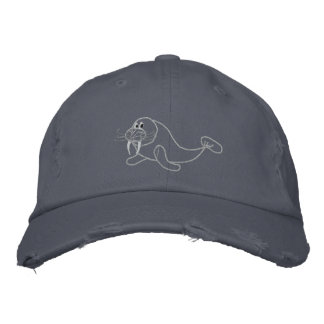 Embroidered Walrus Hat Embroidered Hat