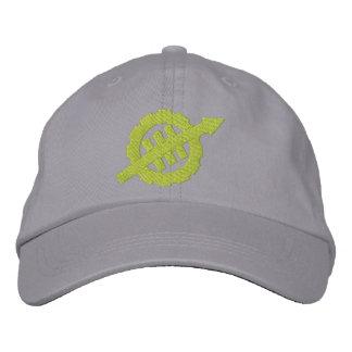 Embroidered WEVO Logo Adjustable Hat - Green Logo Embroidered Baseball Cap