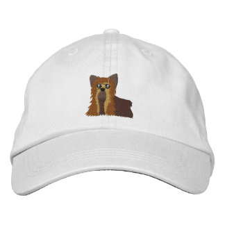 Embroidered Yorkie Hat Embroidered Cap