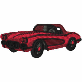 EMBROIDERY - Classic Car - Red