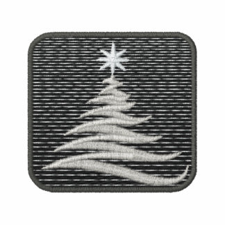 EMBROIDERY- Modern Zig Zag Christmas Tree & Star