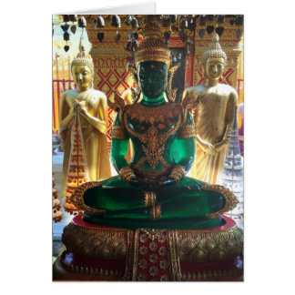Emerald Buddha and Nagas in Thailand Card