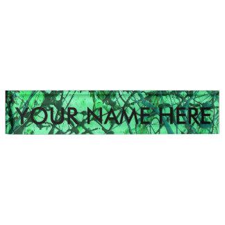 EMERALD DREAM (an abstract art design) ~ Nameplate
