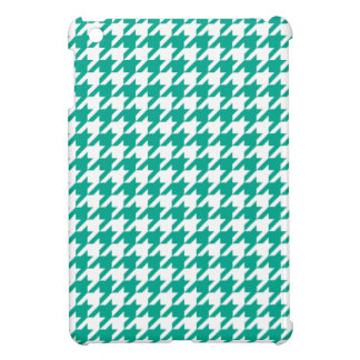 Emerald Green Houndstooth iPad Mini Cover