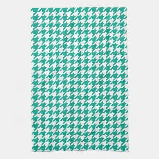 Emerald Green Houndstooth Kitchen Towels
