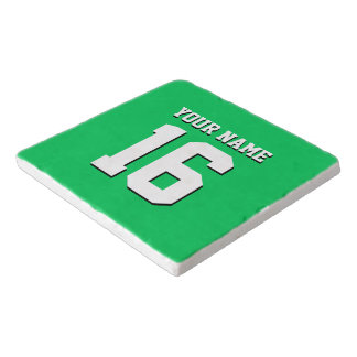 Emerald Green Sports Jersey Team Jersey Trivet