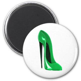 Emerald Green Stiletto Shoe Magnets