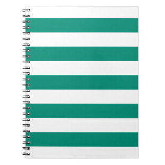 Emerald Green Stripes Pattern Notepad Notebooks