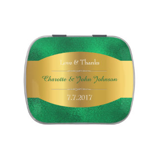 Emerald Green Wine Lace Jelly Belly™ Candy Gift Jelly Belly Candy Tins