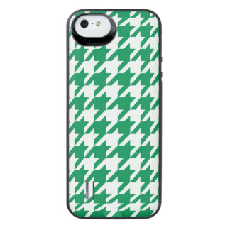 Emerald Houndstooth 1 iPhone SE/5/5s Battery Case